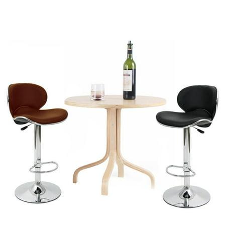 Enjoyable 2Pcs U Leather Adjustable Bar Stools With Back Bar Stool Pu Inzonedesignstudio Interior Chair Design Inzonedesignstudiocom