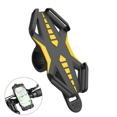Plus Phone Cradle - Bike Mount Phone Holder, GVDV Bicycle Motorcycle Silicone Handle Bar Cradle Cell Phone Stand, for iPhone 7 Plus 6 6s Plus 5s, Samsung Galaxy S8 S7, Google Nexus, HTC, LG Android Smart Phones and GPS