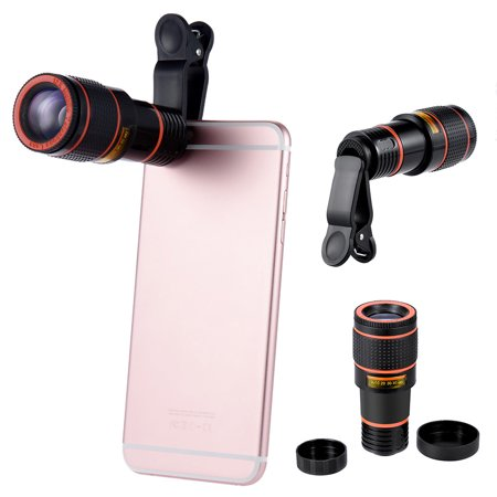 12X Telephoto Lens Optical Zoom Magnifier Telescope Camera Lens w/Clip For