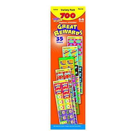 Great Rewards Applause Stickers  Variety Pack  Each Officeschool Extra Size Bright Set9 Book 700Pack Nozzles Pack Per Dog Stickers In 700Pack Packsold    By Trend