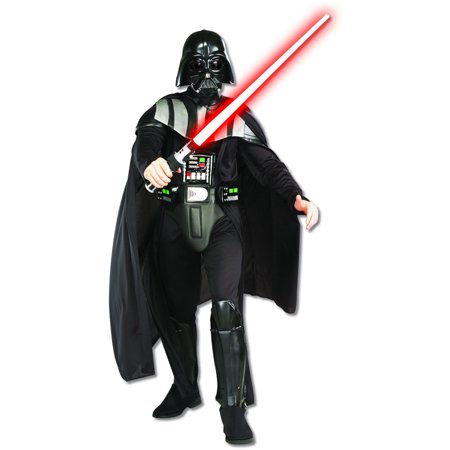 Deluxe Star Wars Darth Vader Adult's Costume And Lightsaber Bundle](Darth Vader Costume Deluxe)