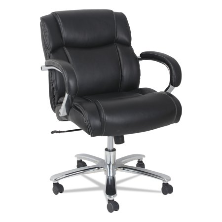350 Lb Chair Lift - Alera Maxxis Series Big and Tall Leather Chair, Black, Supports up to 350 lb
