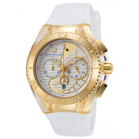 Technomarine TM-115003 Unisex Cruise Dream Interchangeable White Strap White Dial Chrono Dive Watch