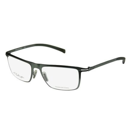 New Smith Optics Avedon Mens Designer Full-Rim Matte Green Stainless Steel Must Have Frame Demo Lenses 54-17-135 (Steel Rimmed Glasses)