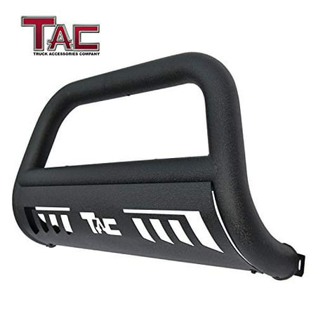 "TAC Bull Bar Fits 2019 Chevy Silverado 1500 Truck Pickup 3"" Texture Black Front Bumper Grille Guard Brush Guard Off Road"
