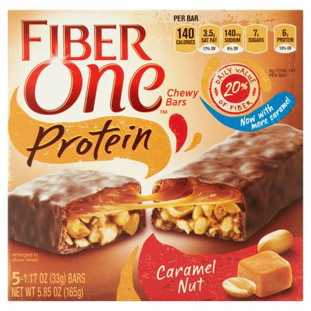 ... Protein Chewy Bar Caramel Nut 5 - 1.17 oz Bars - Walmart.com