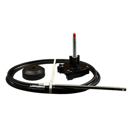 Kimpex Easy Connect Rotary Steering System w/Single Helm 16ft Cable & Bezel Kit   #748789 No Feedback Steering Helm