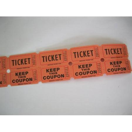 100 Orange 50/50 Double Stub Raffle Tickets, 100 Orange 50/50 Double Stub Raffle Tickets By 50/50 Raffle Tickets Ship from US (Cleveland Browns Ticket Stub)