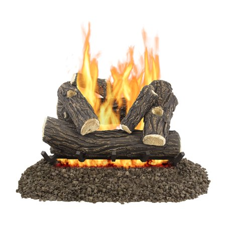 "Pleasant Hearth 24"" Willow Oak Vented Gas Log Set 55,000 BTU"