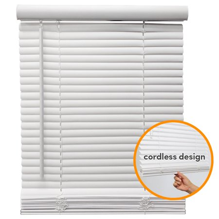 "Biltek Cordless Venetian Window Blinds Horizontal 1"" Slats Privacy Shade Anti-UV White - 48"" W x 64"" H - image 6 de 7"