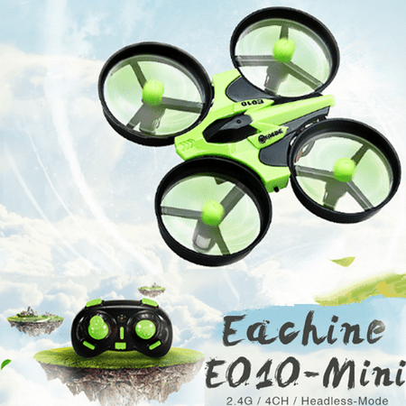 Eachine E010 Mini RC Quadcopter 2.4G 4CH 6-Axis Drone Toy with LED Lights Best Birthday Gifts for Kids