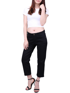 0a4ca9b975a Product Image HDE Women s Fitted Capri Jeggings Cropped Denim Jean Leggings  (Black