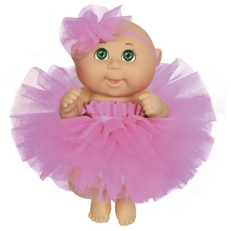 Cabbage Patch Kids Twin (Cabbage Patch Kids 9 Inch Dance Time Girl, Green Eyes, Pink Tutu )