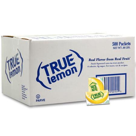 Green Lemon Flavor 6 Packets - (500 Packets) True Lemon, Lemon, $0.04/Oz
