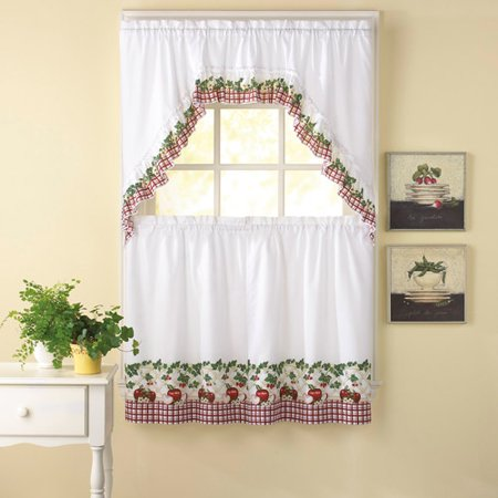 Apple Curtains For Kitchen Simple Design