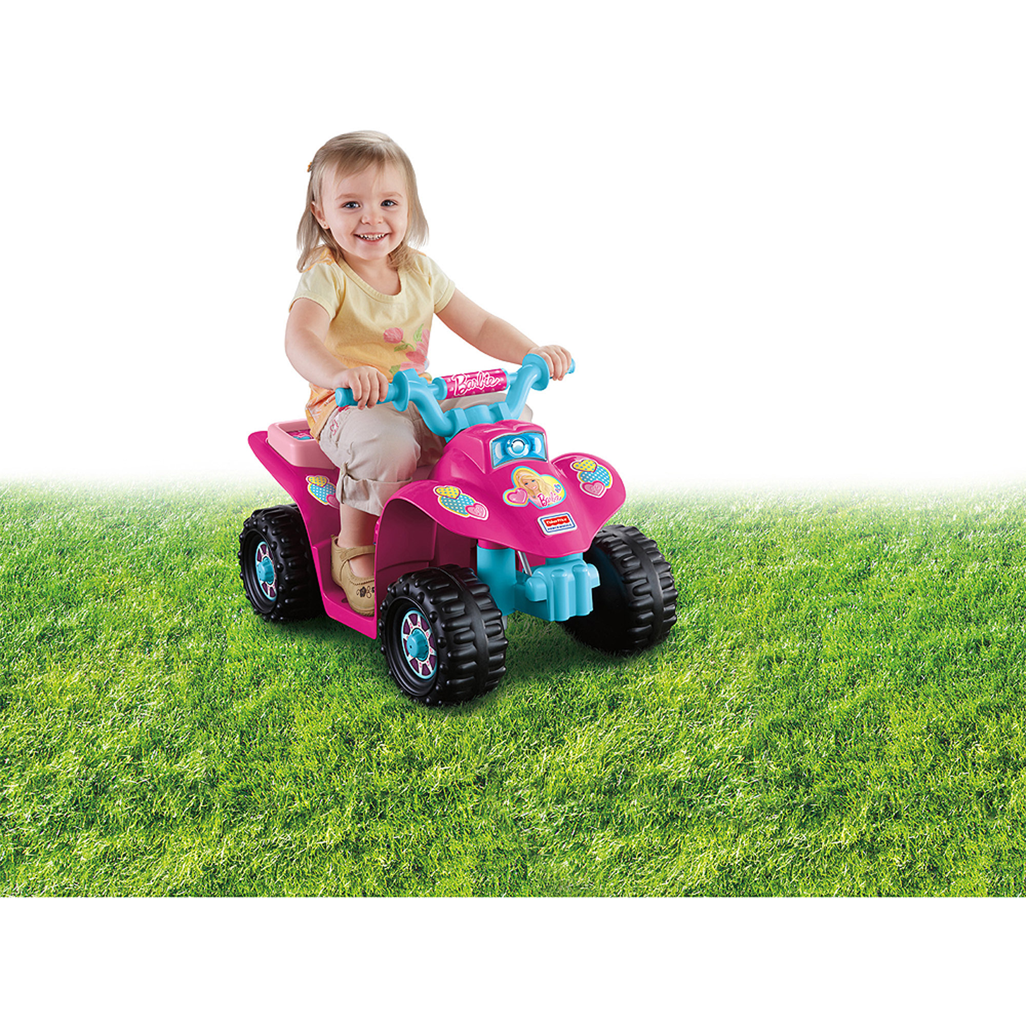 Fisher-Price Power Wheels Barbie Princess Lil' Quad 6-Volt Battery-Powered Ride-On