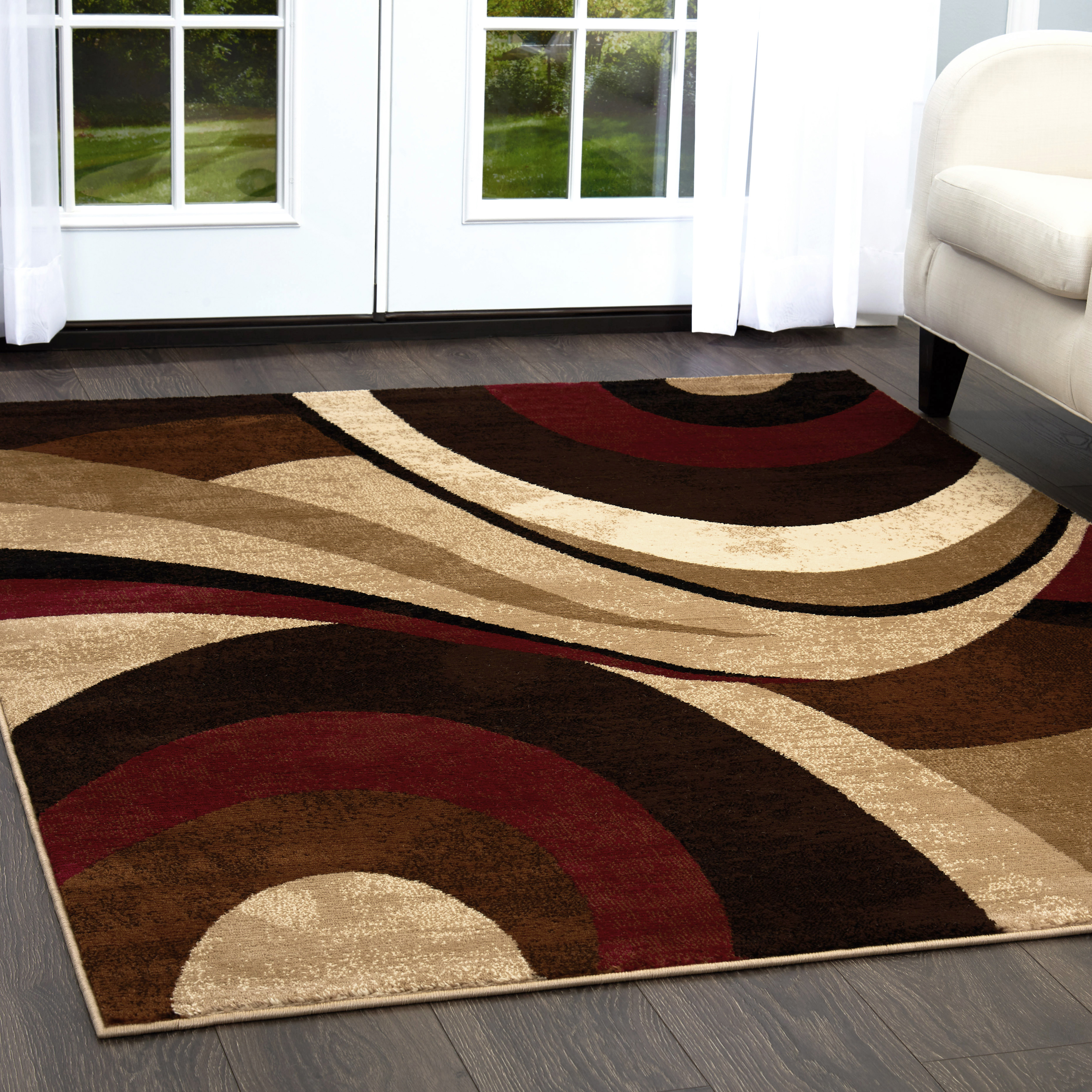 Home Dynamix Tribeca Collection Contemporary Swirl Area Rug