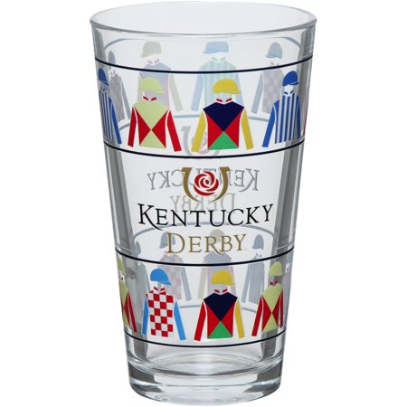 Kentucky Derby Jockey Silks 16oz. Glass - No Size - Cheap Jockey Silks