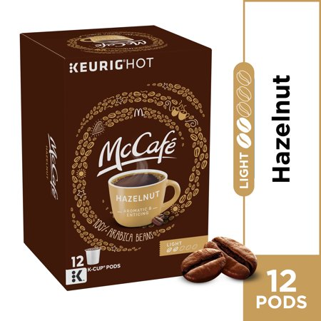 McCafe Light Roast Hazelnut Coffee K-Cup Pods, Caffeinated, 12 ct - 4.12 oz Box (Hazelnut Roasted Coffee)