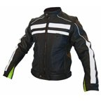 Men's Rival Leather Motorcycle Jacket, Converts to Vest - Small RIVJAC