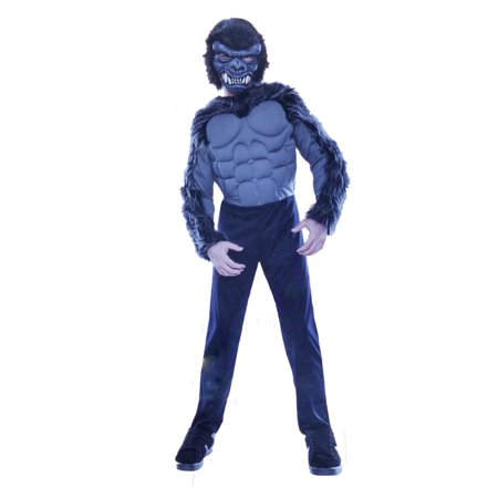 Boys Gorilla Halloween Costume with Mask Small (4-6)
