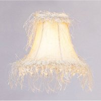 Livex Lighting Silk Bell Clip Shade with Corn Silk Fringe and Beads