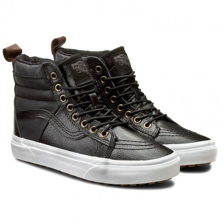 Vans - Vans SK8 Hi 46 MTE Pebble Leather Black Men s Skate Shoes Size 9.5 -  Walmart.com f31b0cac8
