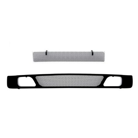 - TRex Grilles 52112 Upper Class Small Mesh Steel Black Finish Bumper Grille Overlay for Chevrolet Silverado 1500
