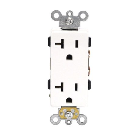 20 Amp Receptacle Outlet, Heavy Duty 125V Decorator Duplex