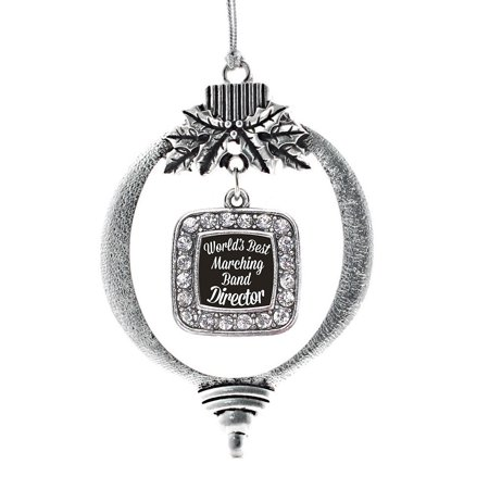 World's Best Marching Band Director Classic Holiday (Director Ornament)