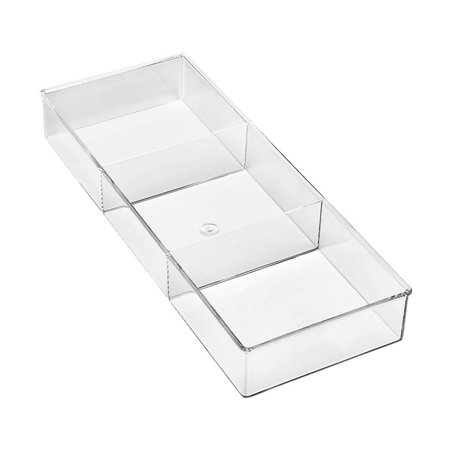 Whitmor 3 Section Small Drawer Organizer Clear (Best Kitchen Drawer Organizer)