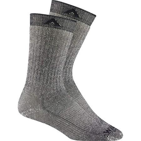 Wigwam Mens Merino Wool Comfort Hiker Crew Length 2-Pack Socks - Navy II - XL Wool Kids Comfort Ski Socks