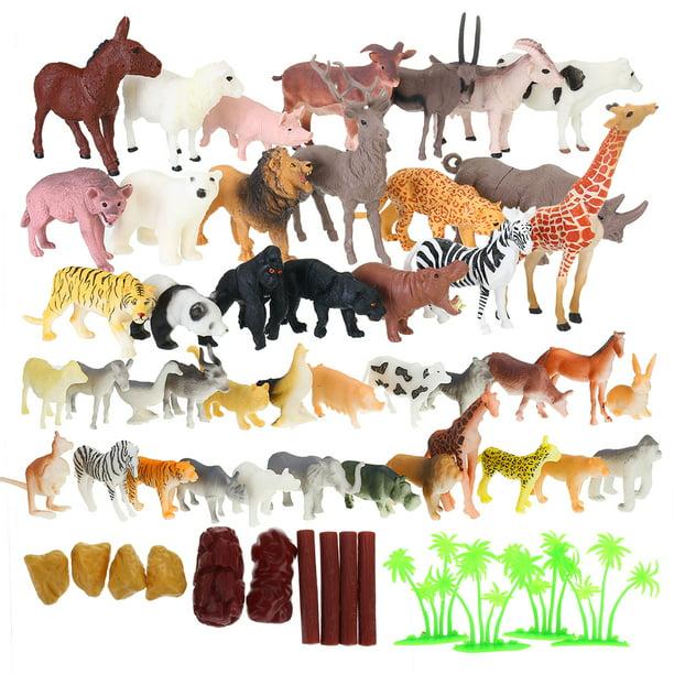5 pcs Yowie Mini Wild Animal Figure Toy Educational Animal PVC Model