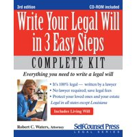 Self-Counsel Legal: Write Your Legal Will in 3 Easy Steps (Other)