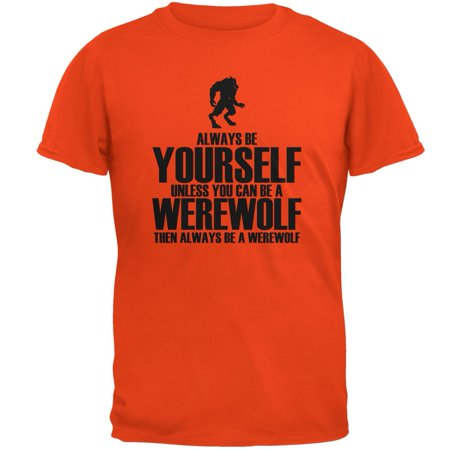 Halloween Always Be Yourself Werewolf Orange Adult - Halloween Werewolf Music