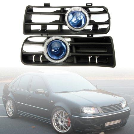 Bule LED Lower Bumper Grille Fog Light Angel Eyes Harness For VW Golf Bora  - image 9 of 9