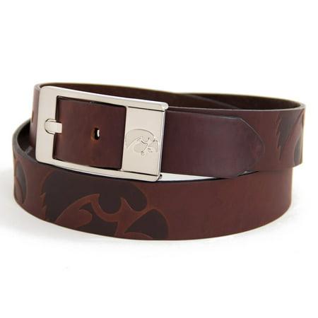 - University of Iowa Brandish Leather Belt