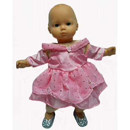 Pink Princess With Designer Material Fits 15 -16  Baby Dolls