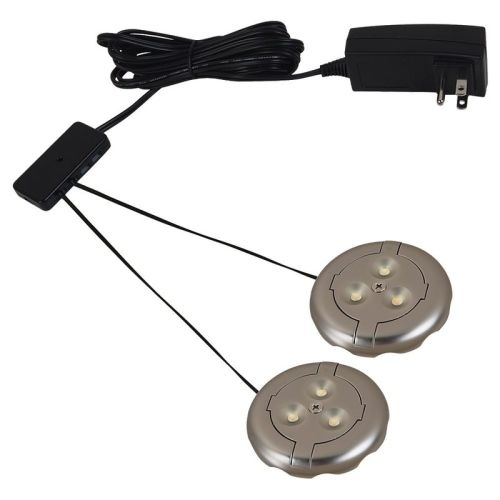 Sea Gull Lighting 98862SW Ambiance LED Disk Lighting 2 LED Puck-Light Kit
