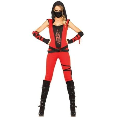 Leg Avenue Women's Ninja Assassin Costume, Red/Black, - Assassin Costume Women
