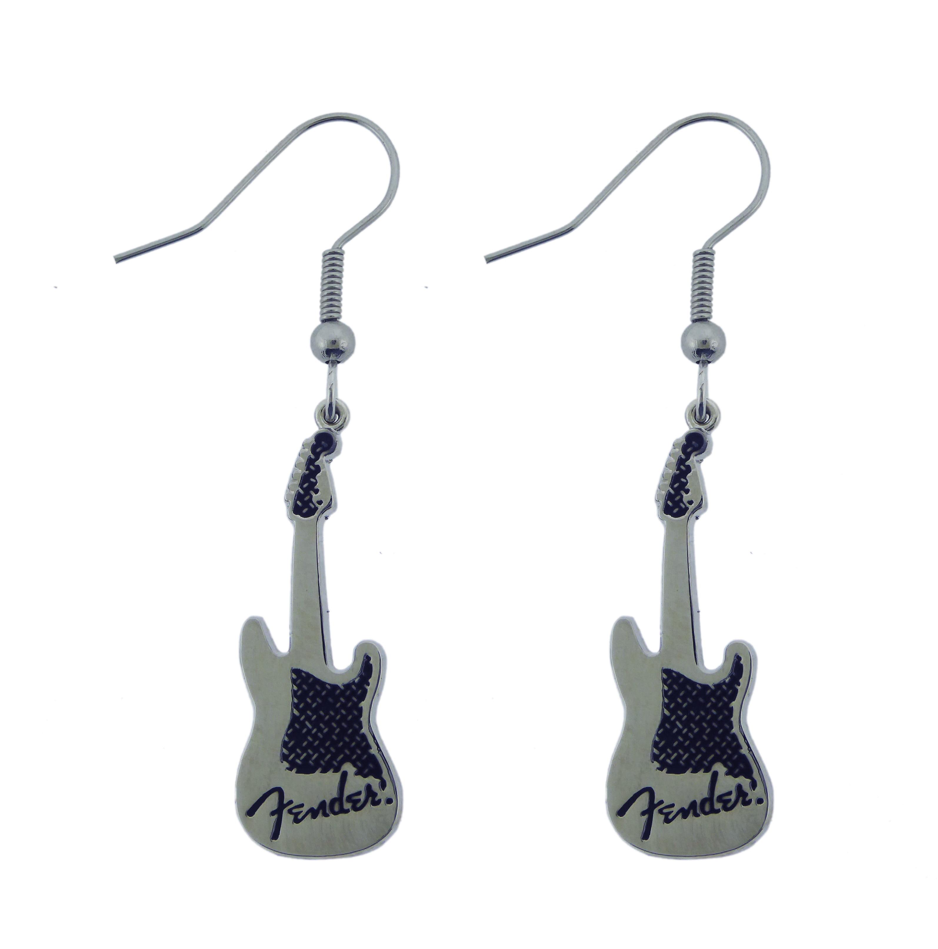 Men Women Silver Metal Belt Buckle Yellow Fender Electric Guitar Music Rocker