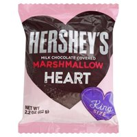 Hershey's Marshmallow Heart Covered in Milk Chocolate King Size, 2.2 Oz.