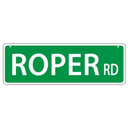 Plastic Street Signs: ROPER ROAD (Cowboy Roping) | Horses, Gifts](Cowboy Gifts)