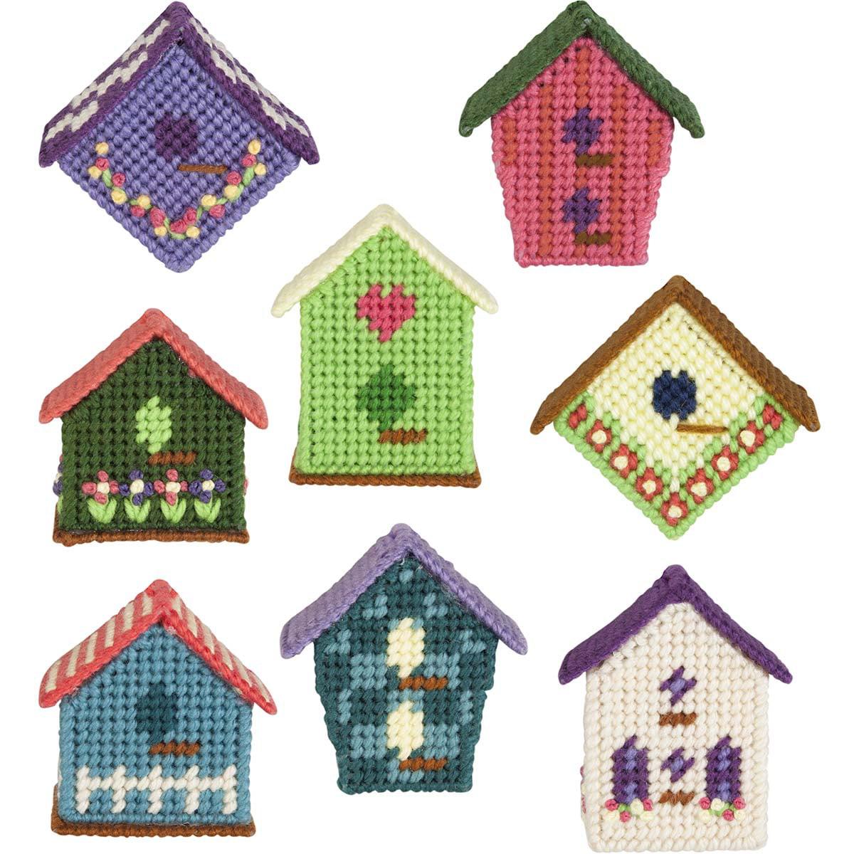 Herrschners® Bright Birdhouses Ornaments Plastic Canvas Kit
