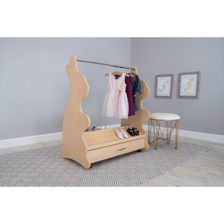 Image of Ace Baby Furniture Rabbit Mobile Dress-Up Clothes; Shoes Organizer