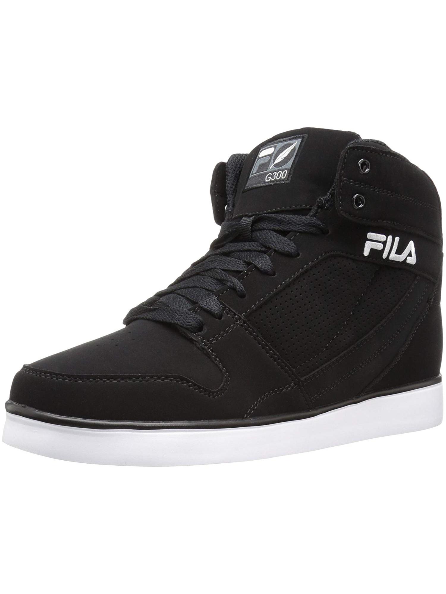 Fila Fila Mens G300 Figueroa Classic Hi Top Leather Sneaker Black