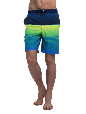 cc5c5e49e02 Product Image MOUNTEC Men's Swim Trunks Quick Dry Board Shorts With  colorful Stripes Printing