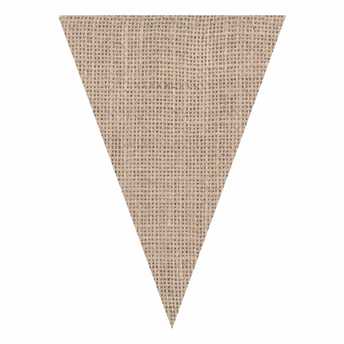 Laminated Die-Cut Burlap, Pennants, Natural, 3 Packs