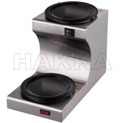 Hakka Commercial Coffee Warmer and Teapot Warmer,2-Station