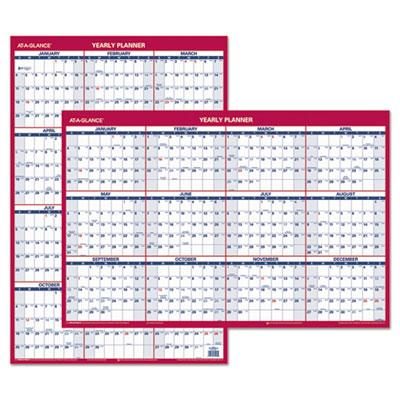 AT-A-GLANCE Erasable Vertical/Horizontal Wall Planner